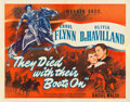 "Movie Posters:Western, They Died with Their Boots On (Warner Brothers, 1941). Half Sheet(22"" X 28"") Style B.. ..."