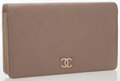 Luxury Accessories:Accessories, Chanel Taupe Lambskin Leather Camellia Wallet with Brushed GoldHardware. ...