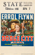 "Movie Posters:Western, Dodge City (Warner Brothers, 1939). Window Card (14"" X 22"").. ..."
