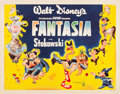 "Movie Posters:Animation, Fantasia (RKO, 1940). Half Sheet (22"" X 28"") Style A.. ..."