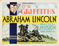 "Movie Posters:Drama, Abraham Lincoln (United Artists, 1930). Half Sheet (22"" X 28""). Drama.. ..."