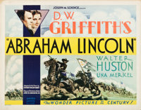 "Abraham Lincoln (United Artists, 1930). Half Sheet (22"" X 28""). Drama"