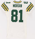 Football Collectibles:Uniforms, 1995 Anthony Morgan Game Worn Green Bay Packers Jersey - Multiple Team Repairs!...