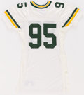 Football Collectibles:Uniforms, 1991 Bryce Paup Game Issued Green Bay Packers Jersey....