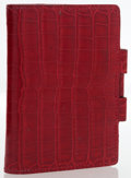 Luxury Accessories:Accessories, Hermes Rouge H Shiny Alligator Vision PM Agenda Cover. ...