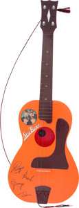 Music Memorabilia:Memorabilia, Beatles New Beat Guitar in Original Box by Selcol (UK, 1964). ...