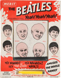 Music Memorabilia:Memorabilia, Beatles Magnetic Hair Game Complete with Wand by Merit (UK NEMS,1964). ...