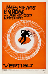 "Vertigo (Paramount, 1958). One Sheet (27"" X 41.75"")"