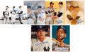 Baseball Collectibles:Photos, 1980's Mickey Mantle Signed Photograph Lot of 6. ...