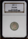 Proof Indian Cents: , 1893 1C PR63 Brown NGC. NGC Census: (9/31). PCGS Population (7/9). Mintage: 2,195. Numismedia Wsl. Price: $140.(#2366)...