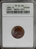 Proof Indian Cents: , 1895 1C PR64 Red and Brown ANACS. Breen-2027. NGC Census: (43/67). PCGS Population (85/38).Mintage: 2,062. Numismedia Wsl. ...