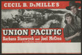 """Movie Posters:Western, Union Pacific (Paramount, 1939). Herald (6"""" X 9""""). Western. ..."""