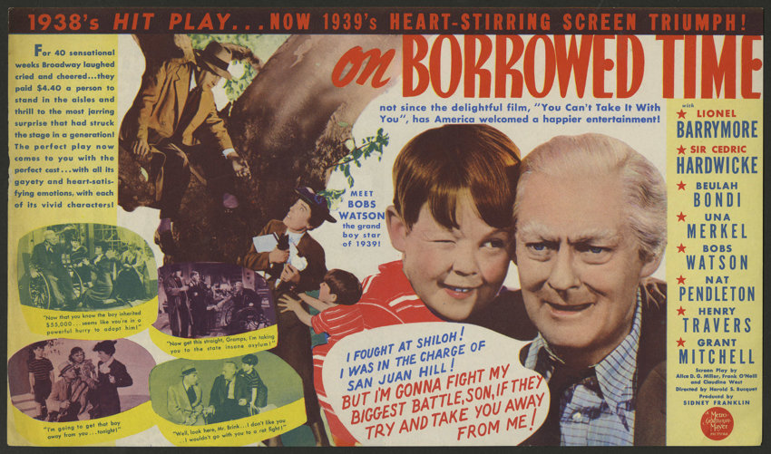 """On Borrowed Time (MGM, 1939). Herald (6.75"""" X 11.75""""). Comedy. ...   Lot  #25237   Heritage Auctions"""