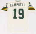 Football Collectibles:Uniforms, 1981 Rich Campbell Game Worn Green Bay Packers Jersey....