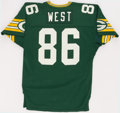 Football Collectibles:Uniforms, 1985 Ed West Game Worn Green Bay Packers Jersey....