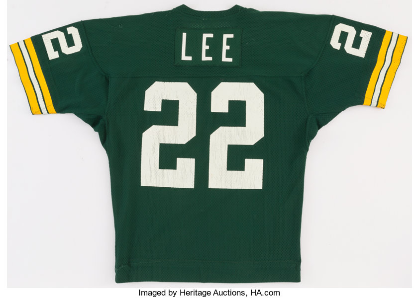 best loved a6aca c6a0b 1982 Mark Lee Game Worn Green Bay Packers Jersey ...