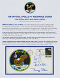 "Explorers:Space Exploration, Apollo 11 Crew-Signed ""Type Three"" Insurance Cover Originally from the Personal Collection of Mission Lunar Module Pilot Buzz ..."