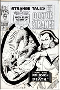 Original Comic Art:Covers, Bill Everett Strange Tales #152 Cover Original Art (Marvel,1967)....