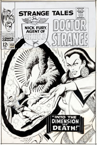 Bill Everett Strange Tales #152 Cover Original Art (Marvel, 1967)