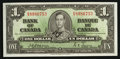 Canadian Currency: , BC-21a $1 1937 Choice About Uncirculated. ...