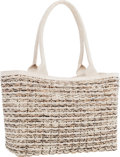 "Luxury Accessories:Bags, Nancy Gonzalez White Woven Alligator & Python Tote Bag. VeryGood Condition. 14"" Width x 10"" Height x 6.5"" Depth. ..."