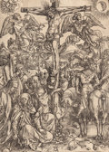 Fine Art - Work on Paper:Print, ALBRECHT DÜRER (German, 1471-1528). Crucifixion of Christ,circa 1511. Woodcut. 15-1/4 x 11 inches (38.7 x 27.9 cm) (pla...