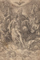ALBRECHT DÜRER (German, 1471-1528) Holy Trinity, circa 1511 Wood engraving 11-1/4 x 15-3/8 inches (28.6 x 39.2 cm)...