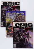 Magazines:Science-Fiction, Epic Illustrated Group (Marvel, 1980) Condition: Average NM-....(Total: 8 Comic Books)