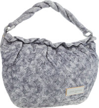 Louis Vuitton Limited Edition Pale Gray Monogram Olympe Leather Nimbus Bag Excellent Condition