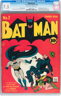 Batman #2 (DC, 1940) CGC VF- 7.5 Cream to off-white pages