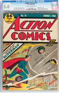 Golden Age (1938-1955):Superhero, Action Comics #15 (DC, 1939) CGC VG/FN 5.0 Cream to off-white pages....