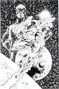 "Original Comic Art:Splash Pages, Dan Jurgens and Al Vey JLA-Z #1 ""Captain Atom"" Pin-UpOriginal Art (DC, 2003)...."