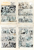 "Original Comic Art:Panel Pages, Al Jetter (attributed) Master Comics #114 ""The Jungle MineDisaster!"" Near Complete Story Original Art (Fawcett, 1... (Total:6 Original Art)"