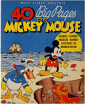 Platinum Age (1897-1937):Miscellaneous, 40 Big Pages of Mickey Mouse #945 (Whitman, 1936) Condition: NM-....