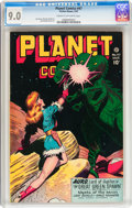 Golden Age (1938-1955):Science Fiction, Planet Comics #47 (Fiction House, 1947) CGC VF/NM 9.0 Cream tooff-white pages....
