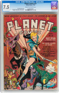 Golden Age (1938-1955):Science Fiction, Planet Comics #21 (Fiction House, 1942) CGC VF- 7.5 Cream tooff-white pages....