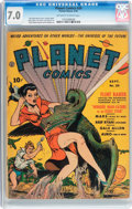 Golden Age (1938-1955):Science Fiction, Planet Comics #20 (Fiction House, 1942) CGC FN/VF 7.0 Off-white towhite pages....