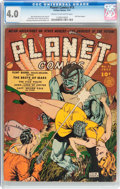 Golden Age (1938-1955):Science Fiction, Planet Comics #13 (Fiction House, 1941) CGC VG 4.0 Cream tooff-white pages....