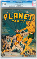 Golden Age (1938-1955):Science Fiction, Planet Comics #12 (Fiction House, 1941) CGC FN/VF 7.0 Light tan tooff-white pages....