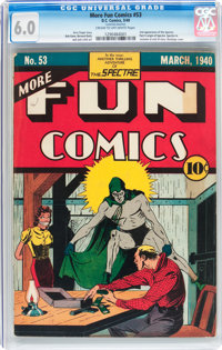 More Fun Comics #53 (DC, 1940) CGC FN 6.0 Cream to off-white pages