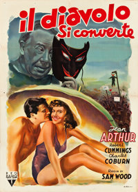 "The Devil and Miss Jones (RKO, 1949). First Post-War Release Italian 2 - Foglio (39"" X 55"")"