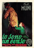 "Movie Posters:Film Noir, I Am a Fugitive from a Chain Gang (Warner Brothers, R-1950s).Italian 2 - Foglio (39.25"" X 55"").. ..."
