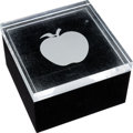 Music Memorabilia:Memorabilia, Beatles Apple Lucite Paperweight/ Trinket Box (1968). ...