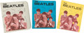 Music Memorabilia:Memorabilia, Beatles Three Ring Binders (Group of Three) by Standard PlasticProducts (NEMS, 1964). ... (Total: 3 Items)