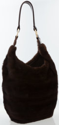 Luxury Accessories:Bags, J. Mendel Brown Mink Hobo Bag. ...