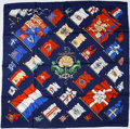 "Luxury Accessories:Accessories, Hermes 90cm Navy ""Pavois,"" by Philippe Ledoux Silk Scarf. ..."