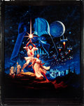 "Movie Posters:Science Fiction, Star Wars (20th Century Fox, 1977). Color Transparency (8"" X 10"")Hildebrandt Art.. ..."