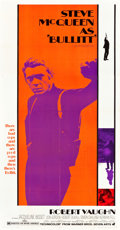 "Movie Posters:Crime, Bullitt (Warner Brothers, 1968). Three Sheet (41"" X 79"").. ..."
