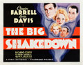 """Movie Posters:Crime, The Big Shakedown (First National, 1934). Half Sheet (22"""" X 28"""").. ..."""