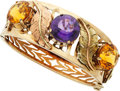 Estate Jewelry:Bracelets, Amethyst, Citrine, Gold Bracelet. ...